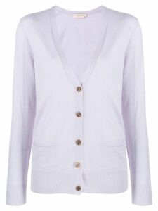 Tory Burch relaxed-fit cardigan - PURPLE