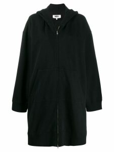 Mm6 Maison Margiela long zipped hoodie - Black