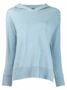 Luisa Cerano hooded jumper - Blue