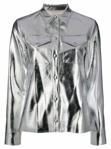 MSGM metallic shirt - SILVER