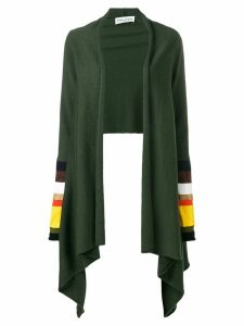 Sonia Rykiel striped sleeve cardigan - Green