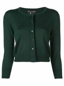 Oscar de la Renta classic slim-fit cardigan - Green