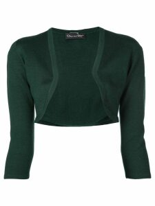 Oscar de la Renta cropped fitted cardigan - Green