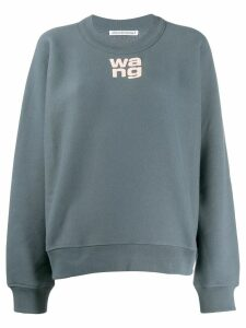 T By Alexander Wang logo sweatshirt - Grey