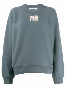 T By Alexander Wang logo sweatshirt - Grey