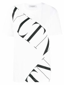 Valentino large contrasting logo T-shirt - White