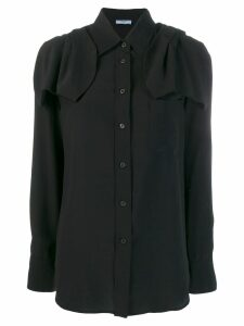 Prada bow ribbon detailed shirt - Black