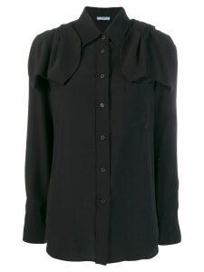 Prada bow ribbon detailed shirt - Black