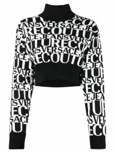 Versace Jeans Couture cropped sweater - Black
