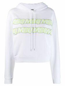 McQ Alexander McQueen embroidered logo hoodie - White