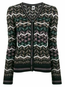 M Missoni geometric pattern cardigan - Brown