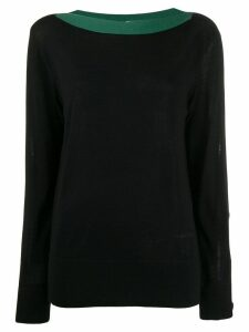 Calvin Klein button detail jumper - Black