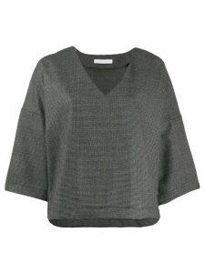 Société Anonyme v-neck flared blouse - Grey