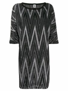 M Missoni short zigzag dress - Black
