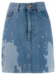 Vivienne Westwood Anglomania bleached effect mini skirt - Blue