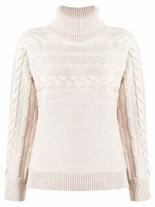 Peserico cable knit jumper - NEUTRALS
