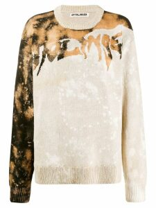 Ottolinger contrast knit jumper - Brown