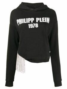 Philipp Plein cropped hoodie - Black