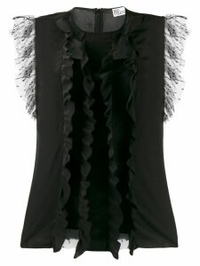 RedValentino RED(V) frilled blouse - Black