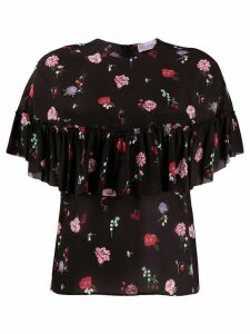 Red Valentino RED(V) frilled floral blouse - Black