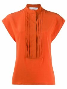 Chloé pleated blouse - ORANGE