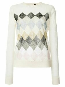 Theory Parchment printed sweater - White