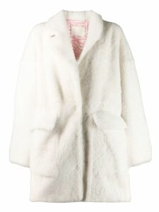 Drome cocoon coat - White