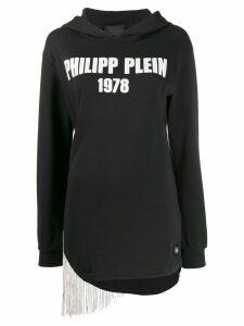 Philipp Plein fringed hoodie - Black