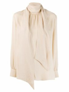 Fendi crêpe de Chine blouse - NEUTRALS