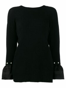 3.1 Phillip Lim v-back embellished jumper - Black
