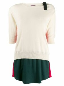 Sueundercover colour block sweater - Neutrals