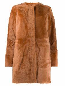 Drome collarless coat - NEUTRALS