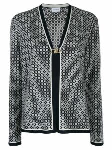 Salvatore Ferragamo Gancini embroidered cardigan - Black