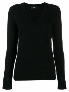 Theory V-neck jumper - Black