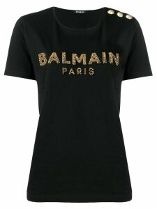 Balmain embellished logo T-shirt - Black