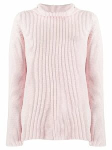 Peserico ribbed roll neck jumper - Pink
