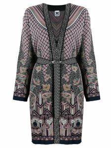 M Missoni belted knit cardigan - Blue