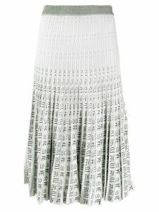Baum Und Pferdgarten pleated love midi skirt - White