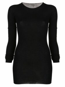 Rick Owens long knitted top - Black