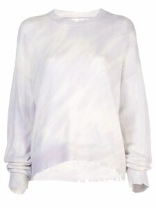 RtA cashmere distressed jumper - PURPLE