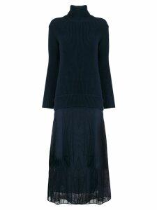 M Missoni turtle neck dress - Blue
