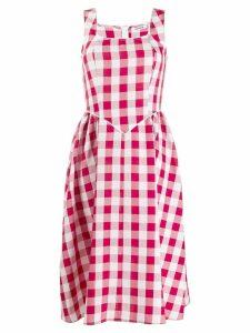Batsheva gingham day dress - Red