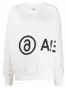 Mm6 Maison Margiela logo printed sweatshirt - White