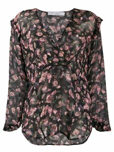 IRO Dolla LS Flowerprint blouse - Black