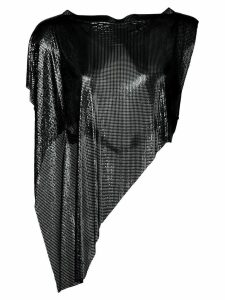 Fannie Schiavoni asymmetric chainmail top - Black