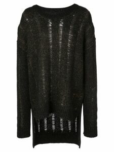 Uma Wang distressed knit jumper - Black
