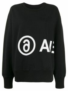 Mm6 Maison Margiela logo printed sweatshirt - Black