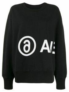 Mm6 Maison Margiela logo printed sweatshirt - Black