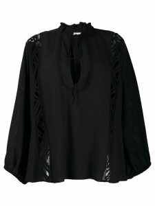 IRO lace panel blouse - Black