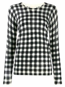 Michael Michael Kors check jumper - Black